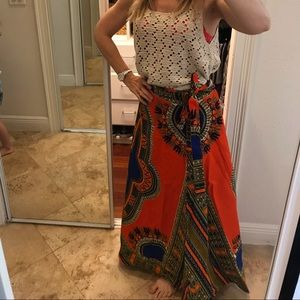 Anthrologie Made in India India BOHO Wrap Skirt